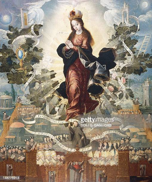 Franciscan Exaltation of the Immaculate Conception Basilio de Salazar oil on canvas 118x100 cm Queretaro Museo Regional De Queretaro