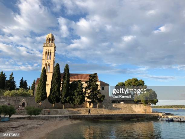 franciscan monastery hvar - hvar stock photos and pictures