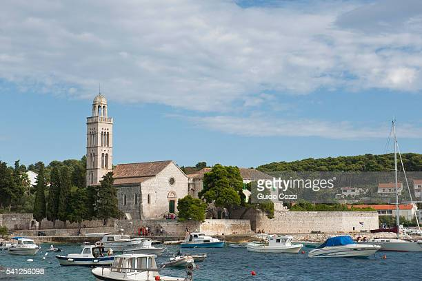 franciscan monastery, hvar town, hvar island, croatia - hvar stock photos and pictures