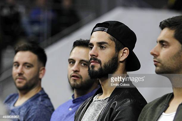 Francisco Alarcon 'Isco' Real Madrid Football player watches the game during the Turkish Airlines Euroleague Regular Season date 2 game between Real...