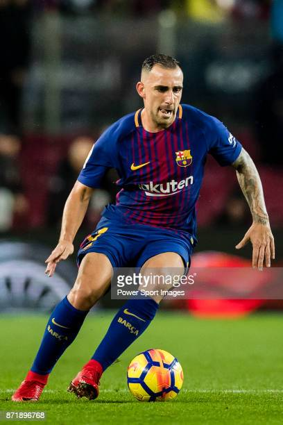 Francisco Alcacer Garcia Paco Alcacer of FC Barcelona in action during the La Liga 201718 match between FC Barcelona and Sevilla FC at Camp Nou on...