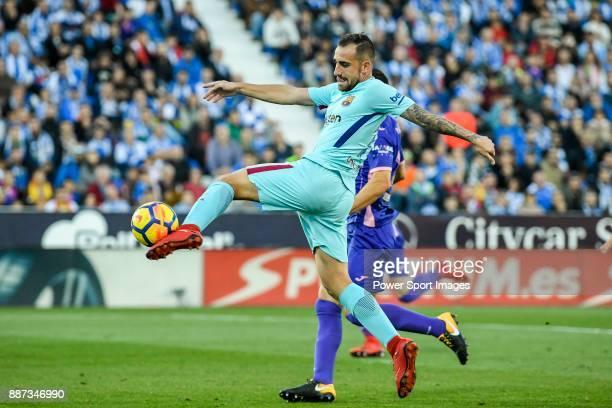 Francisco Alcacer Garcia Paco Alcacer of FC Barcelona in action during the La Liga 201718 match between CD Leganes vs FC Barcelona at Estadio...