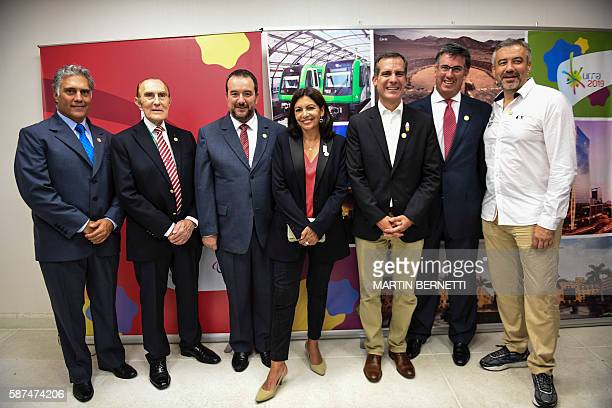 Francisco Bosa Peruvian sports shooter Ivan Dibos a member of the organizing committee for the 2019 Pan American Games in Lima Luis Salazar head of...