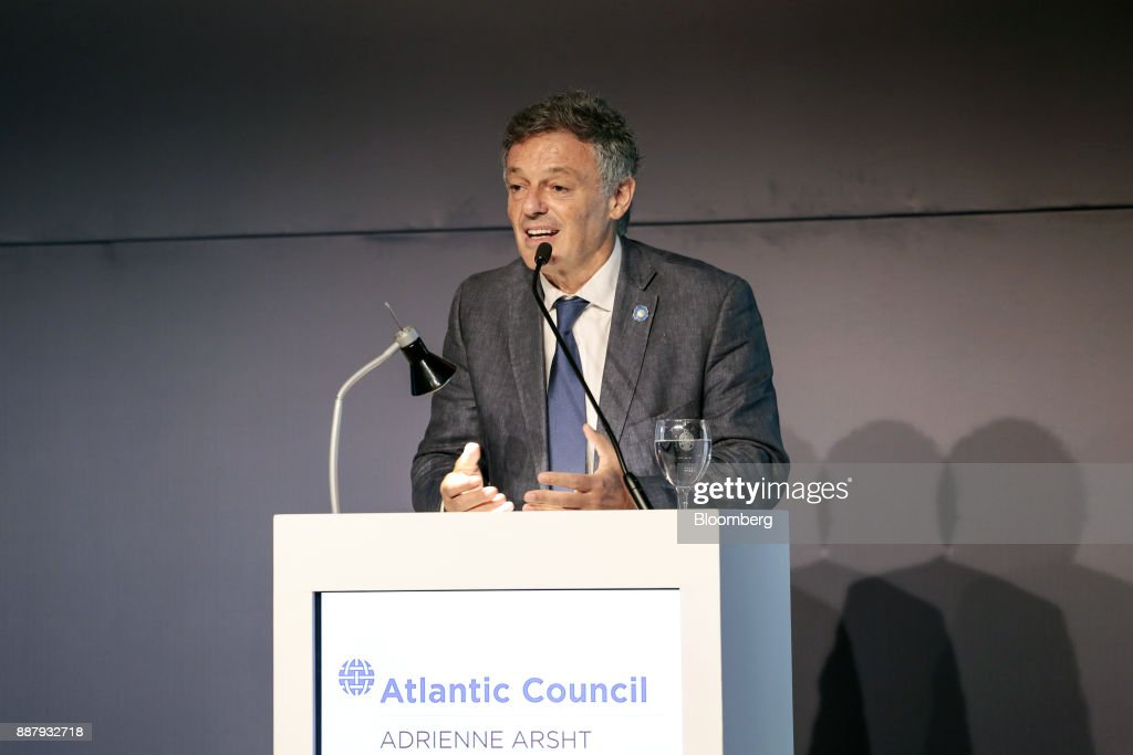 Francisco Cabrera, Argentina's production minister, speaks during an Atlantic Council event in Buenos Aires, Argentina, on Thursday, Dec. 7, 2017. The event will focus on Argentina's economic and political transformations and it's future for further investment and broad-based growth. Photographer: Sarah Pabst/Bloomberg via Getty Images