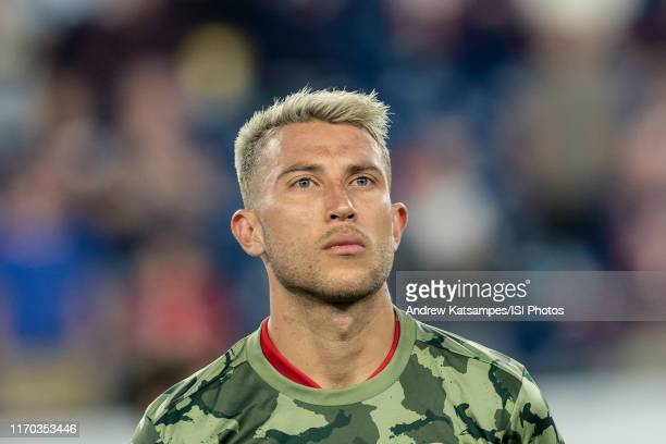 Francisco Calvo of Chicago Fire during a game between Chicago Fire and New England Revolution at Gillette Stadium on August 24, 2019 in Foxborough,...