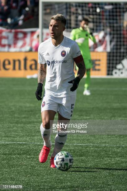 Francisco Calvo of Chicago Fire during a game between Chicago Fire and New England Revolution at Gillette Stadium on March 7 2020 in Foxborough...