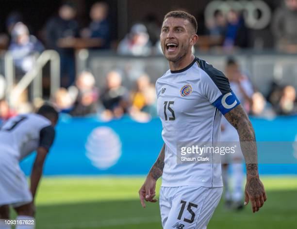 Francisco Calvo of Costa Rica during the international friendly match between the United States and Costa Rica at Avaya Stadium on February 2, 2019...