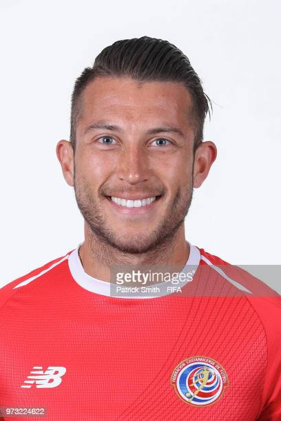 Francisco Calvo of Costa Rica poses for a portrait during the official FIFA World Cup 2018 portrait session at the Hilton Saint Petersburg ExpoForum...