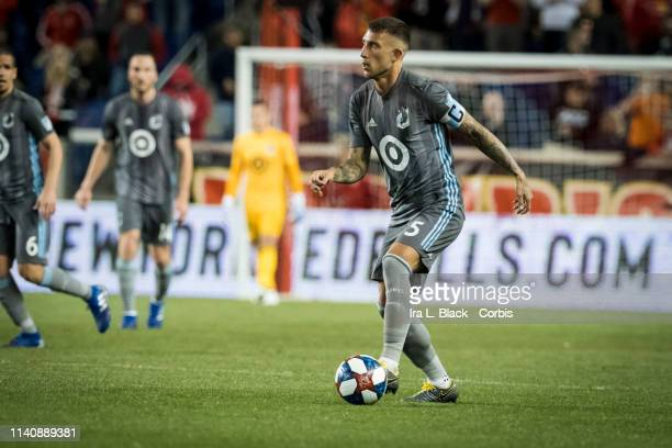 Francisco Calvo of Minnesota United moves the ball across the pitch during the MLS match between Minnesota United FC and New York Red Bulls at Red...