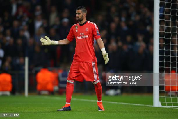 Francisco Casilla of Real Madrid during the UEFA Champions League group H match between Tottenham Hotspur and Real Madrid at Wembley Stadium on...