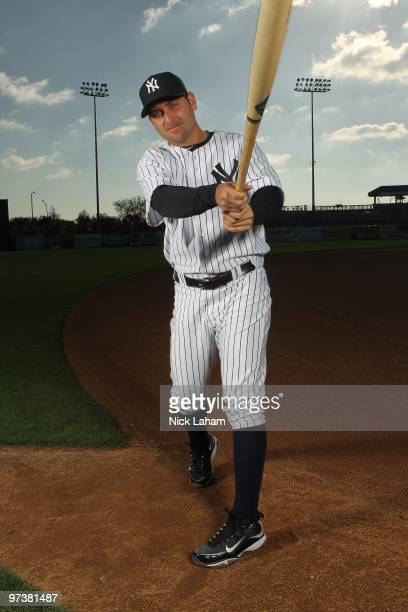 Francisco Cervelli of the New York Yankees poses for a photo during Spring Training Media Photo Day at George M. Steinbrenner Field on February 25,...