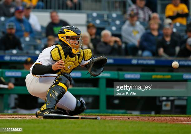 Francisco Cervelli of the Pittsburgh Pirates in action against the Colorado Rockies at PNC Park on May 21, 2019 in Pittsburgh, Pennsylvania.