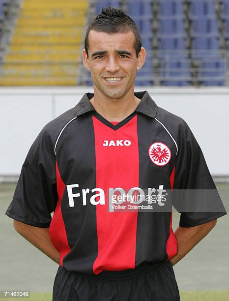 Francisco Copado poses during the Bundesliga 1st Team Presentation of Eintracht Frankfurt at the Commerzbank Arena on July 14 2006 in Frankfurt...