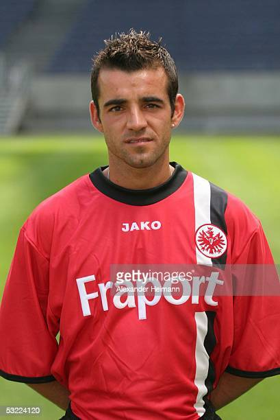 Francisco Copado poses during the team presentation of Eintracht Frankfurt for the Bundesliga season 2005 2006 on July 11 2005 in Frankfurt Germany