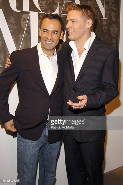 Francisco Costa and Bryan Adams attend Calvin Klein hosts a party to celebrate Bryan Adams' new photo book American Women to benefit The Society of...