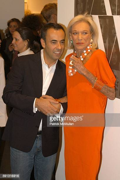 Francisco Costa and Nan Kempner attend Calvin Klein hosts a party to celebrate Bryan Adams' new photo book American Women to benefit The Society of...