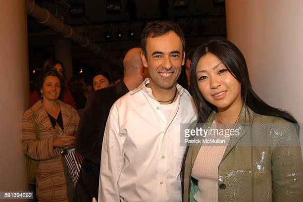 Francisco Costa and Utada attend Calvin Klein Fall 2005 Fashion Show at Milk Studios on February 10 2005 in New York City