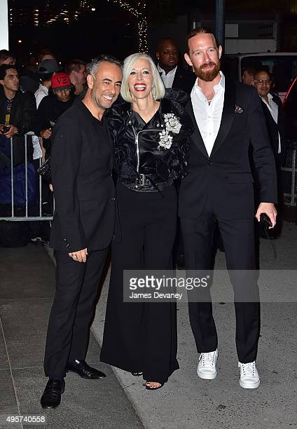 Francisco Costa Linda Fargo and Bjorn Wallander arrives to Museum of Modern Art on November 4 2015 in New York City