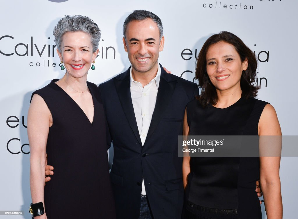 Francisco Costa, Women's Creative Director of Calvin Klein Collection and Host Joana Vicente (R) attend the The IFP, Calvin Klein Collection & Euphoria Calvin Klein Celebrate Women In Film At The 66th Cannes Film Festival on May 16, 2013 in Cannes, France.