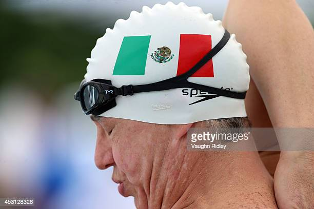 Francisco Cruz of Mexico competes in the Men's 800m Freestyle at Parc JeanDrapeau during the 15th FINA World Masters Championships on August 03 2014...