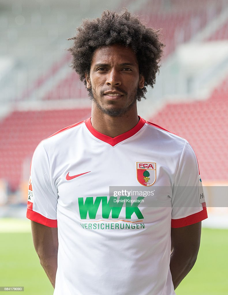 Francisco da Silva Caiuby poses during the Team Presentation of FC Augsburg on July 28, 2016 in Augsburg, Germany.