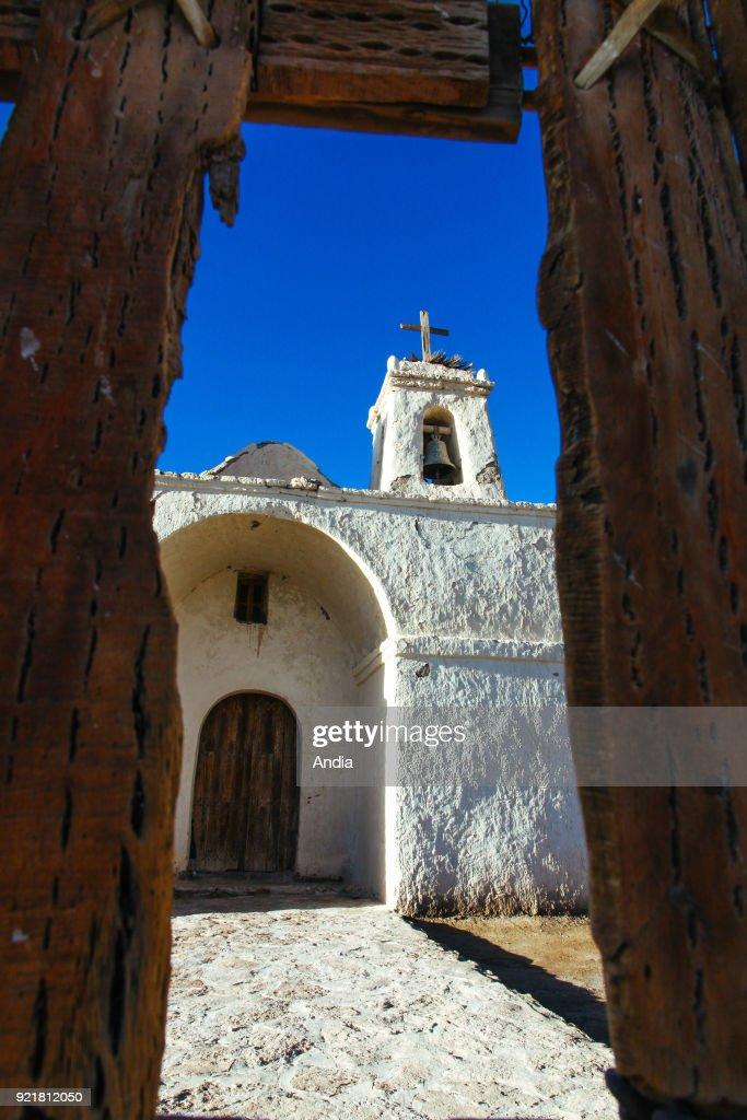 Francisco de Chiu Chiu, the country's oldest church. : News Photo