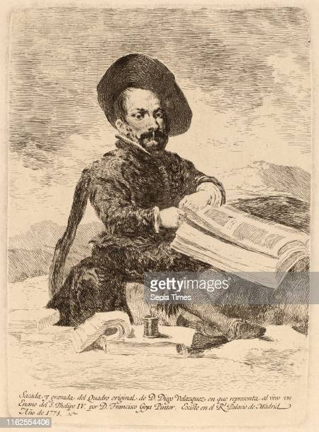 Francisco de Goya after Diego VelÌÁzquez Un enano Spanish 1746 1828 etching on heavy laid paper [first edition impression printed in the Calcografia...