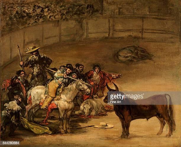 Francisco de Goya Bullfight Suerte de Varas oil on canvas 495 x 61 cm The J Paul Getty Museum Malibu California