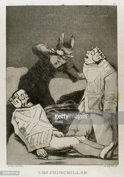 Francisco de Goya Spanish painter and printmaker Los Caprichos Los Chinchillas Number 50 Aquatint 1799 Reproduction by M Segui i Riera