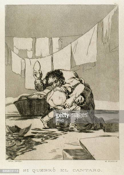 Francisco de Goya Spanish painter and printmaker Los Caprichos Si quebro el cantaro Number 25 Aquatint 1799 Reproduction by M Segui i Riera