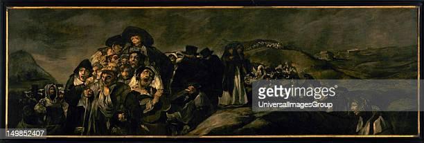 Francisco de Goya Spanish romantic painter The Pilgrimage to San Isidro 18211823 Prado Museum Madrid Spain