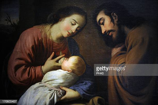 Francisco de Zurbaran Spanish painter The Holy Family 1659 Museum of Fine Arts Budapest Hungary