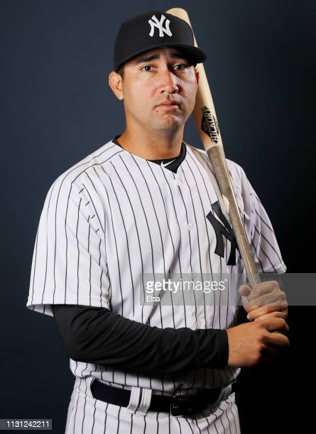 Francisco Diaz of the New York Yankees poses for a portrait during the New York Yankees Photo Day on February 21 2019 at George M Steinbrenner Field...