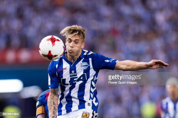 Francisco Femenia Far Kiko Femenia of Deportivo Alaves in action during the Copa Del Rey Final between FC Barcelona and Deportivo Alaves at Vicente...