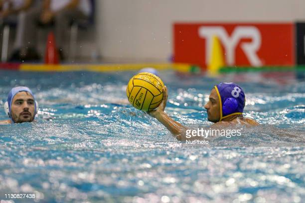 Francisco Fernandez of Barceloneta during the Champions League water polo match between Pro Recco and Barceloneta on march 15 2019 at Piscina...