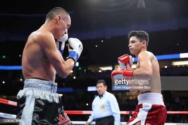 Francisco Fonseca fighting Ryan Garcia at the Honda Center on February 14, 2020 in Anaheim, California.