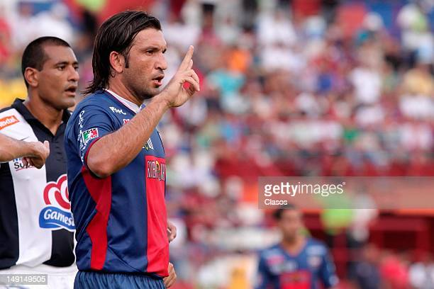 Francisco Fonseca of Atlante in action during a match between Pachuca and Atlante as part of the Tournament Apertura 2012 at Olimpic Stadium on July...
