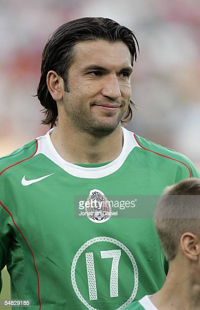 Francisco Fonseca of Mexico stands at midfield up prior to their 2006 World Cup Qualifying match against the USA at Crew Stadium on Septermber 3,...