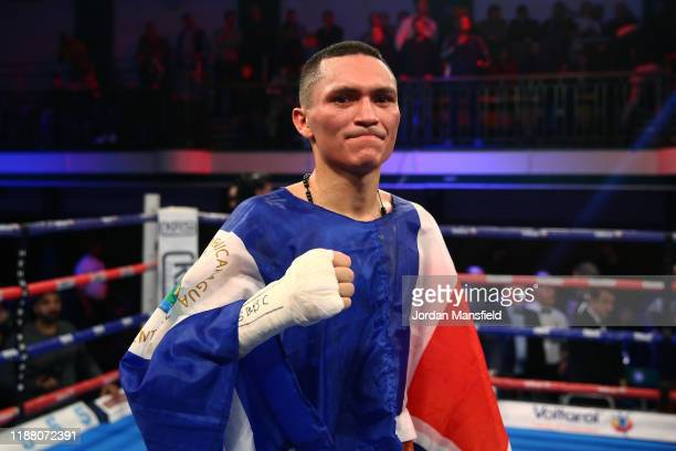 Francisco Fonseca poses for a photo after the bout is judged a drad during the IBO World Title Fight between Alex Dilmaghani and Francisco Fonseca at...