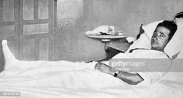Francisco Franco in hospital bed in Madrid in July 1931. Spanish military leader. Ruled as the dictator of Spain from 1939. 4 December 1892 Ð 20...