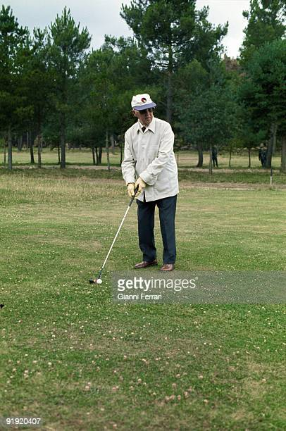 Francisco Franco playing golf the dictator in a 1974 image playing golf