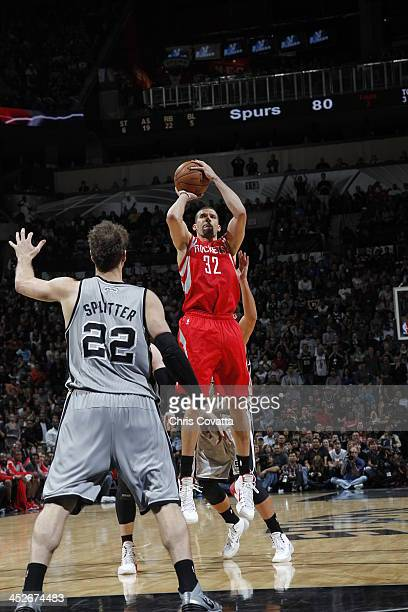 Francisco Garcia of the Houston Rockets shoots against the San Antonio Spurs on November 30 2013 at the ATT Center in San Antonio Texas NOTE TO USER...