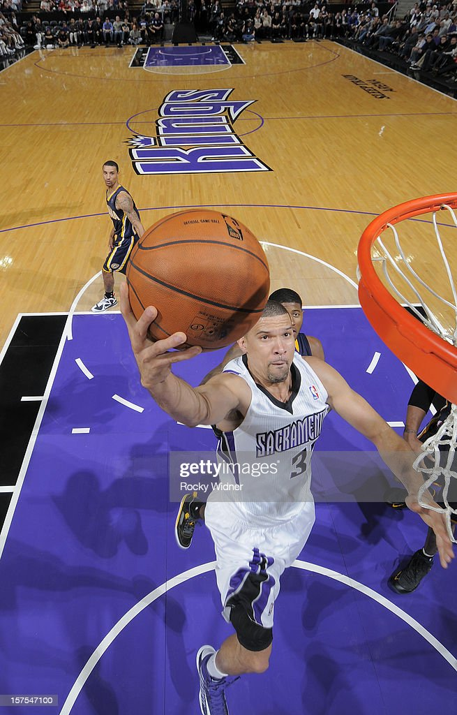 Francisco Garcia #32 of the Sacramento Kings goes up for the shot against the Indiana Pacers on November 30, 2012 at Sleep Train Arena in Sacramento, California.