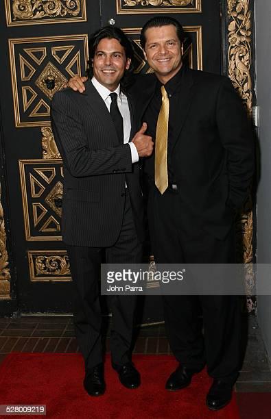 Francisco Gattorno and Ariel Lopez Padilla during Telemundo Celebrates New Production Tierra de Pasiones at The Forge in Miami Beach Florida United...