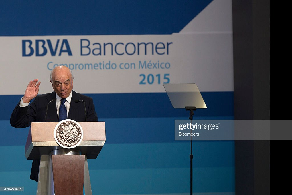 President Pena Nieto and Finance Minister Videgaray Speak At BBVA Bancomer Board Meeting