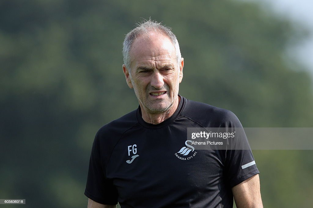 Swansea City Training and Press Conference : News Photo