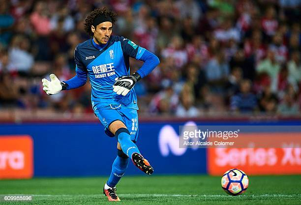 Francisco Guillermo Ochoa of Granada CF in action during the match between Granada CF vs SD Eibar as part of La Liga at Nuevo los Carmenes Stadium on...