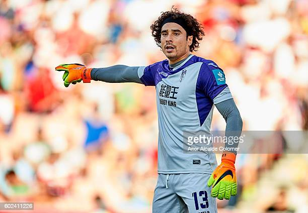 GRANADA SPAIN SEPTEMBER Francisco Guillermo Ochoa of Granada CF reacts during the match between Granada CF vs SD Eibar as part of La Liga at Nuevo...