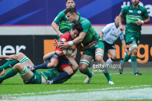Francisco Hernandez of Spain during match between Ireland and Spain at the HSBC Paris Sevens stage of the Rugby Sevens World Series at Stade Jean...
