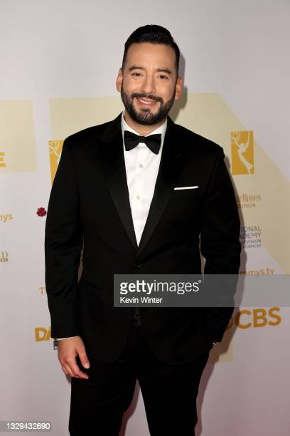 Francisco Hernández-Cáceres attends the winners walk for the 48th Annual Daytime Emmy Awards for Lifestyle at Associated Television Int'l Studios on...